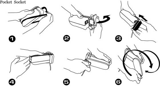 instructions for operating the pocket socket by k